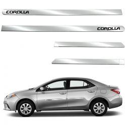 Friso lateral cromado Corolla 2009 a 2014 ou Corolla 2015 a 2019