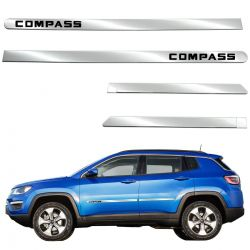 Friso lateral cromado Jeep Compass 2017 2018 2019