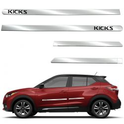 Friso lateral cromado Nissan Kicks 2017 2018 2019 2020