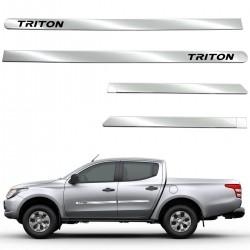 Friso lateral cromado Nova L200 Triton Sport 2021