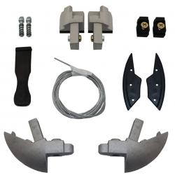 Kit de cantoneiras traseiras capota marítima Flash Force Amarok, S10 2012+, Ranger 2013+, L200 Sport Outdoor e outras