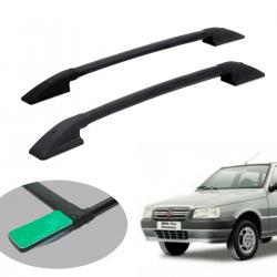 Longarina de teto Solar alumínio colada preta Uno Mille 1984 a 2013