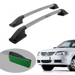 Longarina de teto Track tubular colada prata Gol G3 2000 a 2005 ou Gol G4 2005 a 2014
