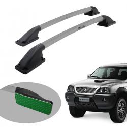 Longarina de teto Track tubular colada prata L200 Triton Sport 2017 a 2020 e L200 Triton Outdoor 2021