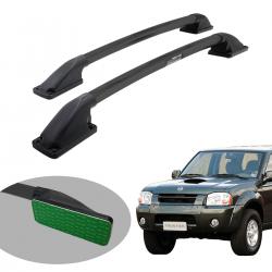 Longarina de teto Track tubular colada preta Frontier 2003 a 2007