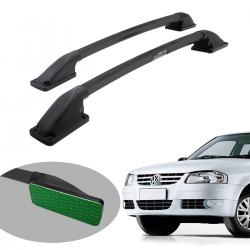 Longarina de teto Track tubular colada preta Gol G3 2000 a 2005 ou Gol G4 2005 a 2014