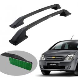 Longarina de teto Track tubular colada preta Meriva 2003 a 2012