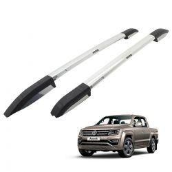 Longarina rack de teto Bepo Elite alumínio polido Amarok 2011 a 2020