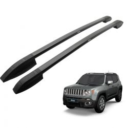 Longarina rack de teto Bepo Elite preto total Jeep Renegade 2016 2017 2018 2019