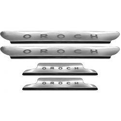 Protetor de soleira aço inox Duster Oroch 2016 a 2020