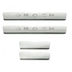 Protetor de soleira aço inox Duster Oroch 2016 a 2021