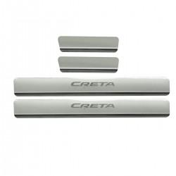 Protetor de soleira aço inox Hyundai Creta 2017 a 2021