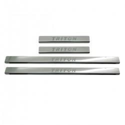 Protetor de soleira aço inox Nova L200 Triton Sport 2021