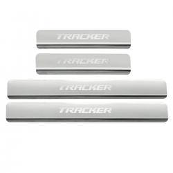 Protetor de soleira aço inox Tracker 2021 2022