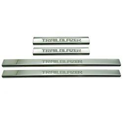 Protetor de soleira aço inox Trailblazer 2013 a 2020