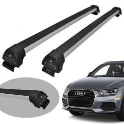 Rack de teto Audi Q3 2013 a 2019 Long Life Sports anodizado