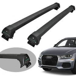 Rack de teto Audi Q3 2013 a 2019 Long Life Sports preto