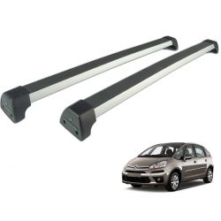 Rack de teto C4 Picasso 2009 a 2014 Long Life Sports anodizado