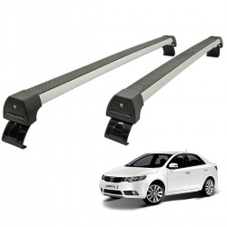 Rack de teto Cerato 2010 a 2012 Long Life Sports anodizado