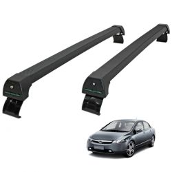 Rack de teto Long Life Sports preto Civic 2007 a 2011