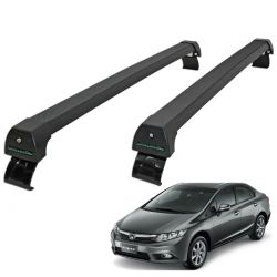Rack de teto Civic 2012 a 2014 Long Life Sports preto