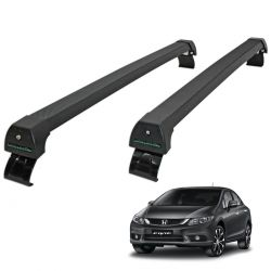 Rack de teto Civic 2015 e 2016 Long Life Sports preto