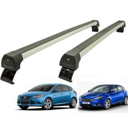 Rack de teto Focus 2014 a 2018 Long Life Sports anodizado