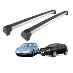 Rack de teto Golf 1999 a 2013 Long Life Sports anodizado