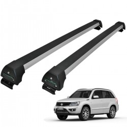 Rack de teto Grand Vitara 2009 a 2016 Long Life Sports anodizado