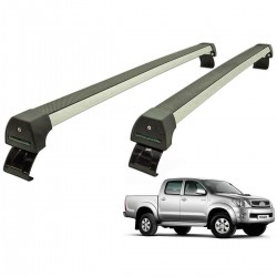 Rack de teto Long Life Sports Hilux cabine dupla 2005 a 2015