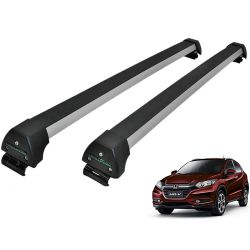 Rack de teto HRV HR-V 2016 a 2020 Long Life Sports anodizado