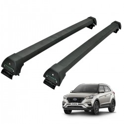 Rack de teto Hyundai Creta 2017 2018 2019 2020 Long Life Sports preto
