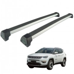 Rack de teto Jeep Compass 2017 2018 2019 2020 Long Life Sports anodizado