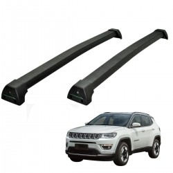 Rack de teto Jeep Compass 2017 2018 2019 Long Life Sports preto