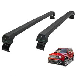 Rack de teto Jeep Renegade 2016 a 2020 sem longarina Long Life Sports preto