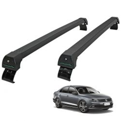 Rack de teto Jetta 2011 a 2017 Long Life Sports preto