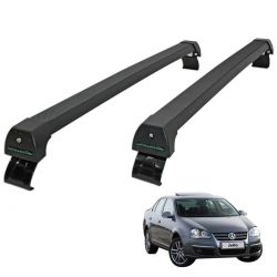 Rack de teto Jetta 2007 a 2010 Long Life Sports preto