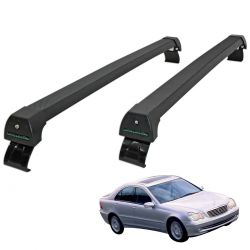 Rack de teto Mercedes Classe C 2001 a 2007 Long Life Sports preto
