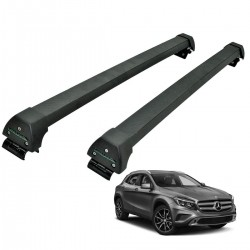 Rack de teto Mercedes GLA 2015 a 2019 Long Life Sports preto
