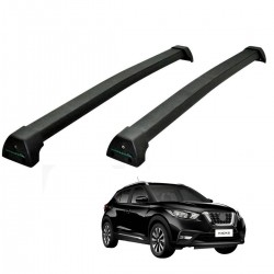 Rack de teto Nissan Kicks 2017 2018 2019 2020 Long Life Sports preto