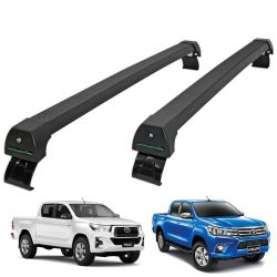 Rack de teto Nova Hilux 2016 a 2020 Long Life Sports preto