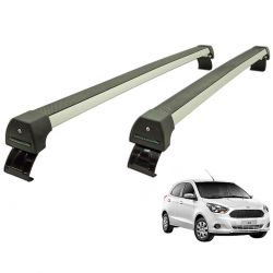 Rack de teto Novo Ka hatch ou sedan 2015 a 2020 Long Life Sports anodizado
