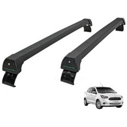 Rack de teto Novo Ka hatch ou sedan 2015 a 2020 Long Life Sports preto
