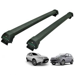 Rack de teto Long Life Sports preto Outlander 2014 a 2021