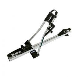 Rack de teto para bicicleta Long Life Premium Long com alavanca de segurança alumínio anodizado