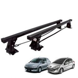 Rack de teto Peugeot 206 1999 a 2009 e Peugeot 207 2010 a 2015 2 portas Long Life aço