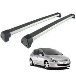 Rack de teto Peugeot 307 2001 a 2012 Long Life Sports anodizado