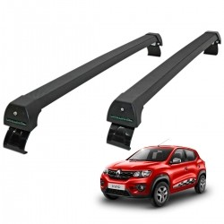Rack de teto Renault Kwid 2018 2019 Long Life Sports preto
