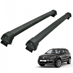 Rack de teto Tiguan 2009 a 2017 Long Life Sports preto