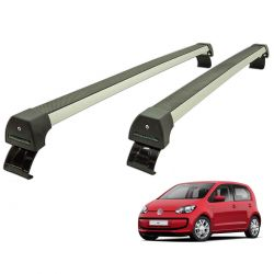 Rack de teto up! 2 ou 4 portas VW up 2014 a 2020 Long Life Sports anodizado